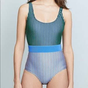 DvF Tie Front Classic One Piece Swimsuit